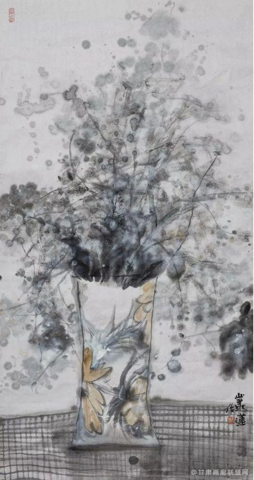 花影系列之四 丛莲作品