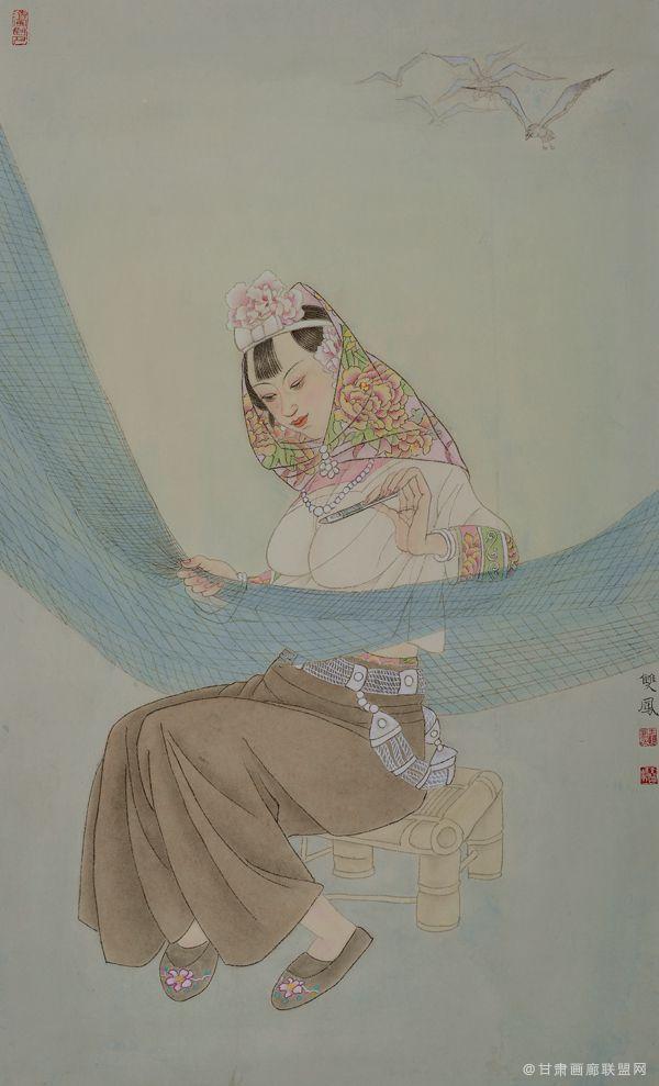 惠女风情系列(三)55x91 王双凤作品