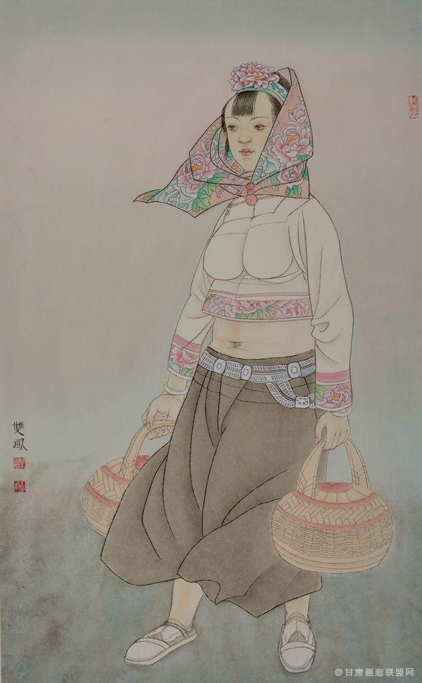 惠女风情系列(六)55x91 王双凤作品