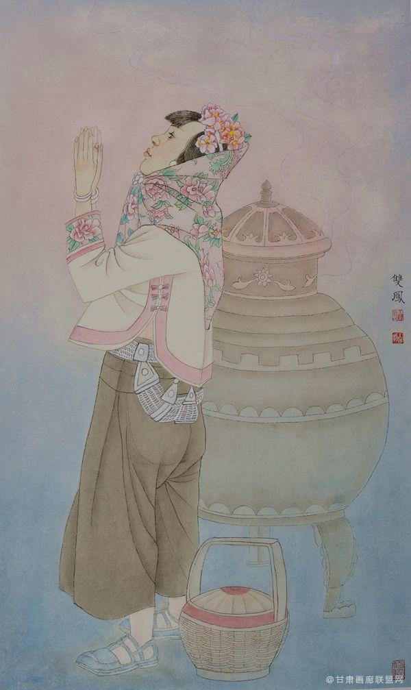 惠女风情系列(四)55x91 王双凤作品