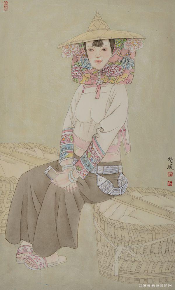 惠女风情系列(一)55x91 王双凤作品