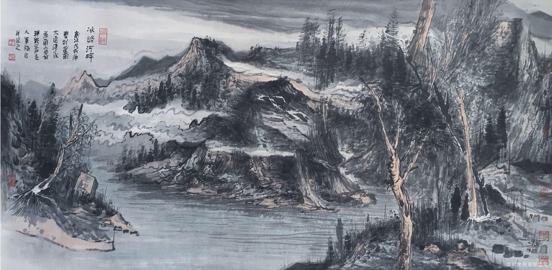于军福作品《冰峪河畔》