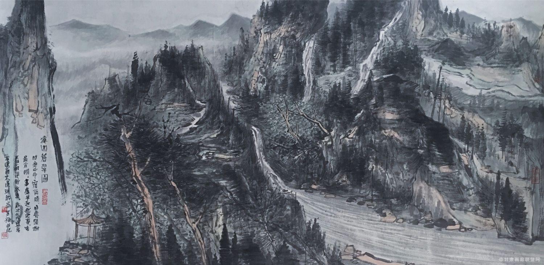 于军福作品《溪山苍翠图》