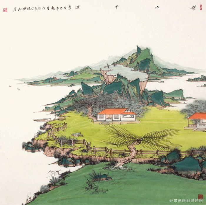 刘艳会作品 湖山平远---68cm×68cm