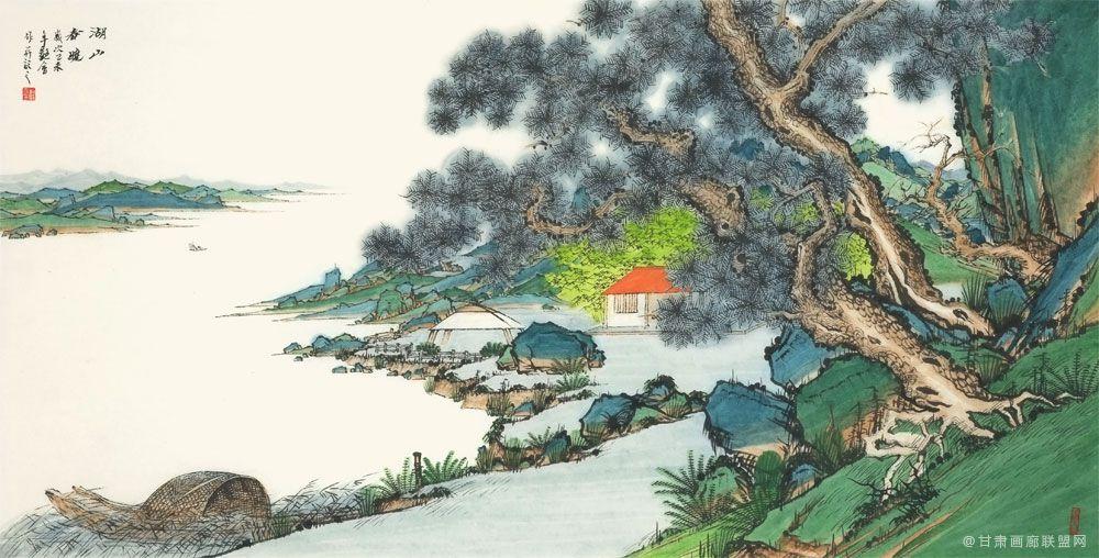 刘艳会作品 湖山春晓-68-34