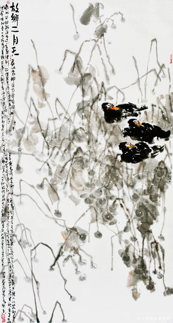 《故乡二月天》97cm×180cm-2016年-李卫东-作