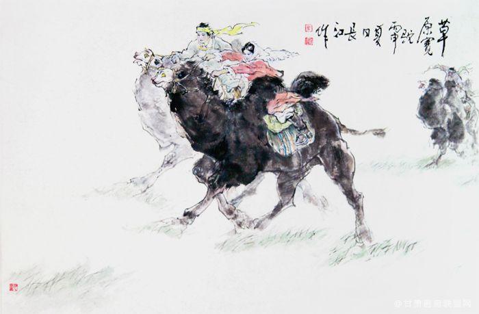 《草原赛驼》马长江 作
