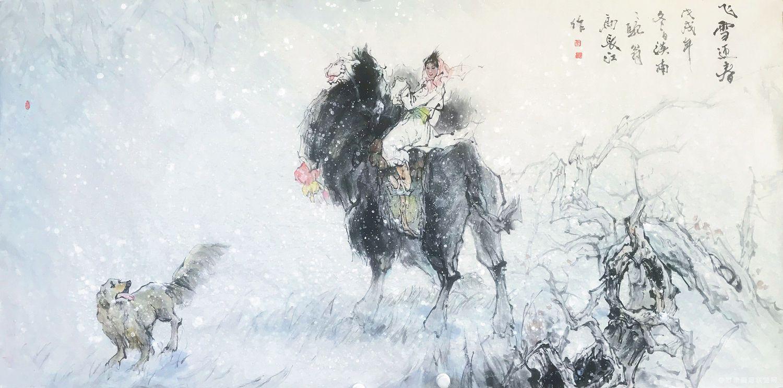 《飞雪迎春》马长江 作