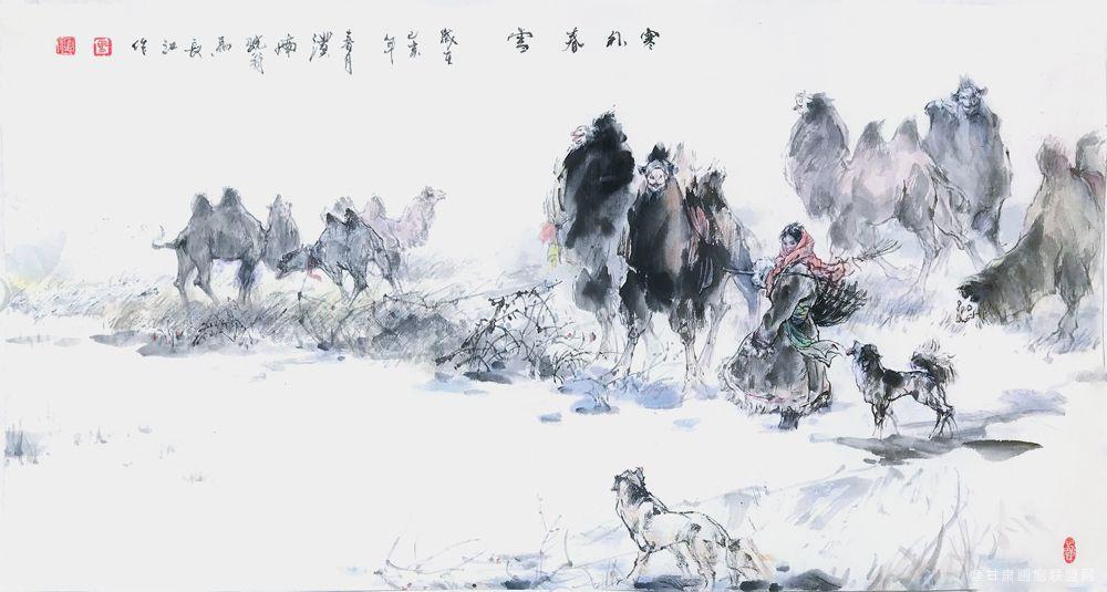 《塞外春雪》马长江 作