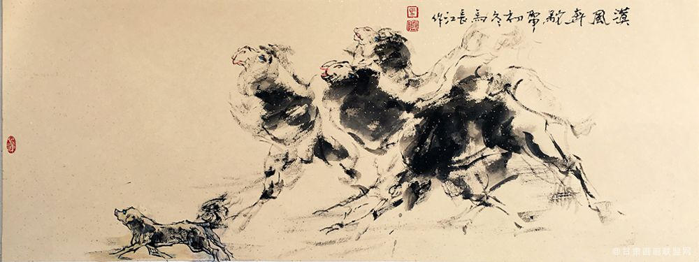 《漠风奔驼》马长江 作